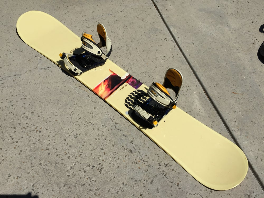 Image of Burton Super Model 168cm Snowboard with Ride xl bindings