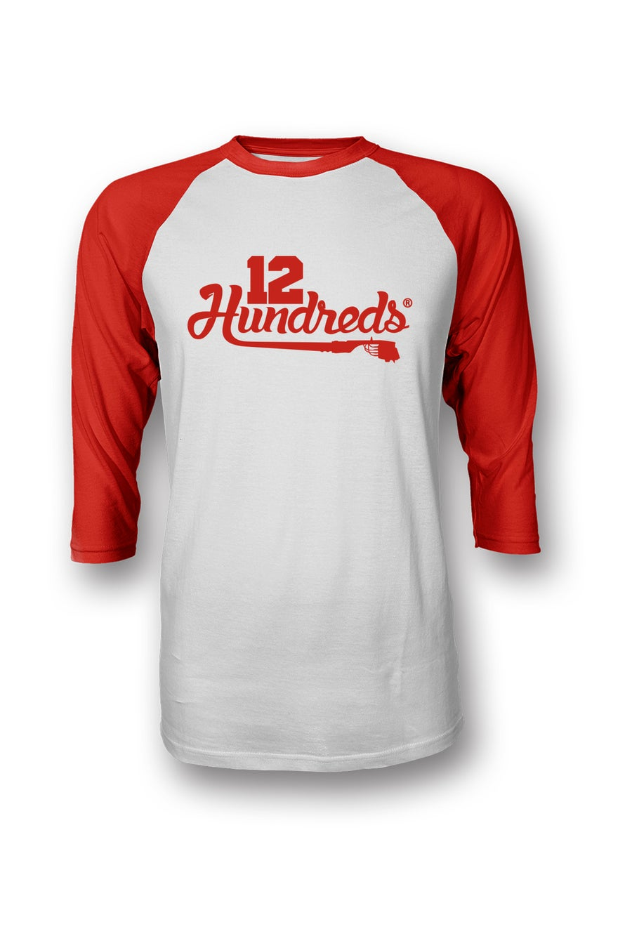Image of Team 12 hundreds : RED RAGLAN
