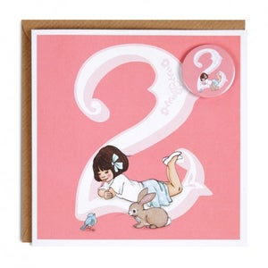Image of Birthday Badge Card - Two