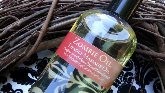 Image of Zombie Massage Oil - Choose Your Scent