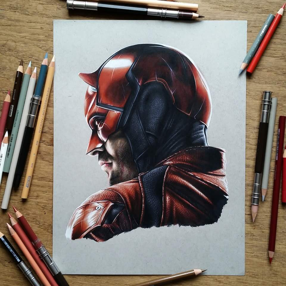Image of Limited edition daredevil print (A4)