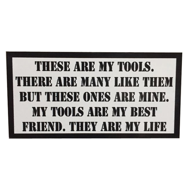 Image of These are my Tools Rifleman's Creed Tool Box Sticker by Seven 13 Productions