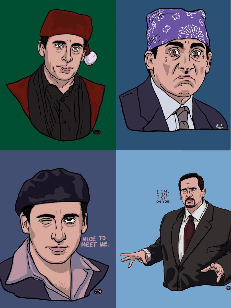Image of Michael Scott print