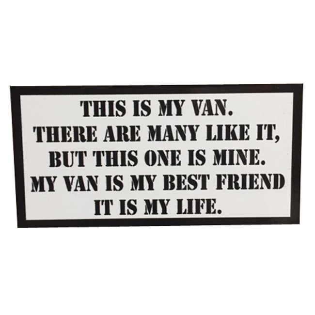 Image of This is my Van Rifleman's Creed Sticker by Seven 13 Productions