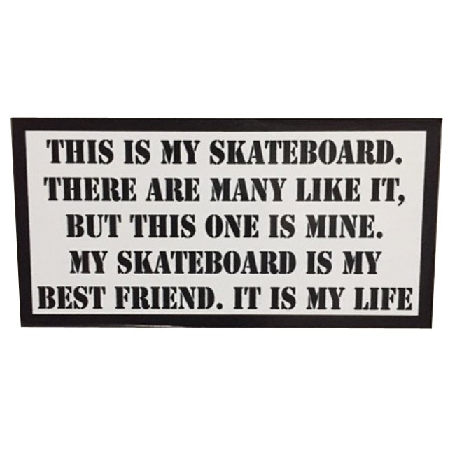 Image of This is my Skateboard Rifleman's Creed Sticker by Seven 13 Productions