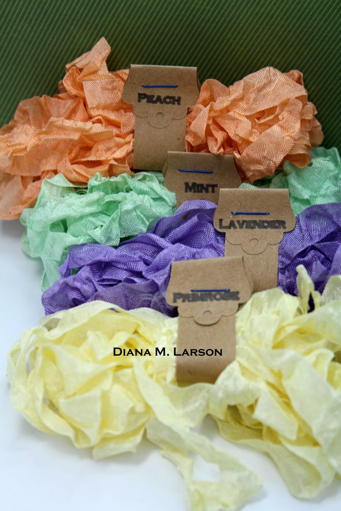 Image of Spring Bundle #2 is Peach and Mint, crinkle ribbon