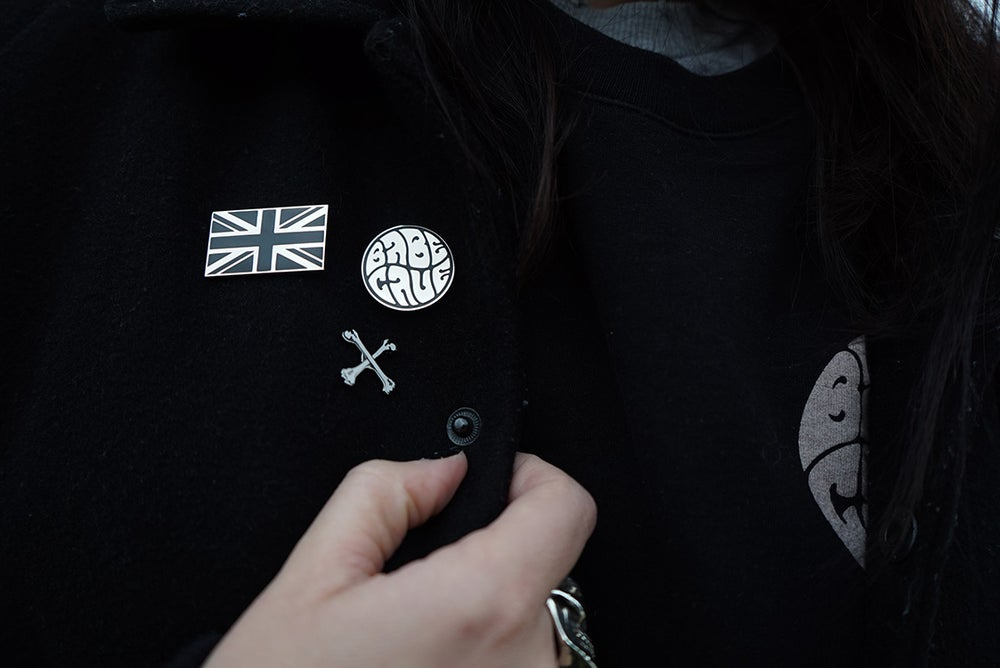 Image of Blackest of The Black UK Flag Pin
