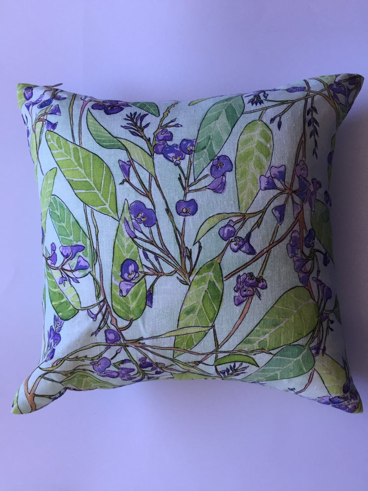 Image of Purple Coral Pea - Linen Cushion