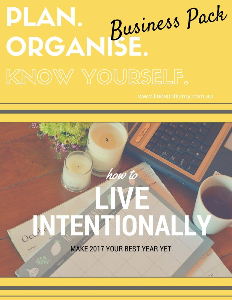 Image of BUSINESS PACK - 'Plan. Organise. Know Yourself.' Printables Collection