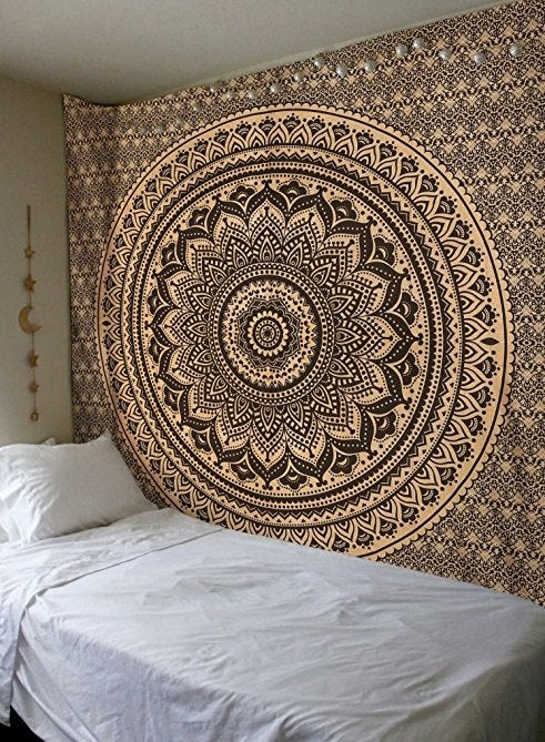 Image of Gold Mandala Tapestry