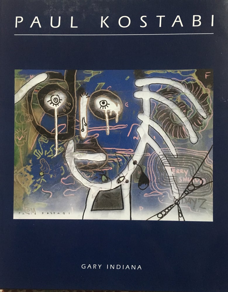 Image of Paul Kostabi Book Published by Biblos Text Gary Indiana