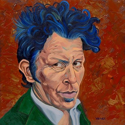 Image of Tom Waits Portrait (Glitter and Doom) - Giclee Print
