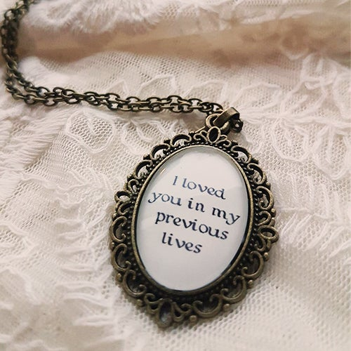 Image of Until Eternity Necklace Small [LYRIC 1]