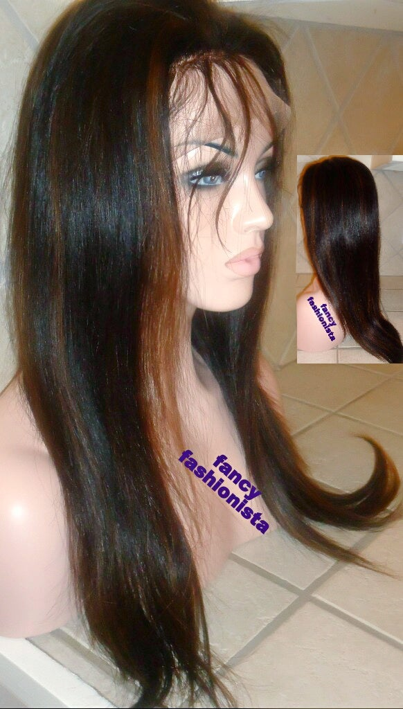 Image of Indian Remy Full Lace Wig #1B/6 Highlights