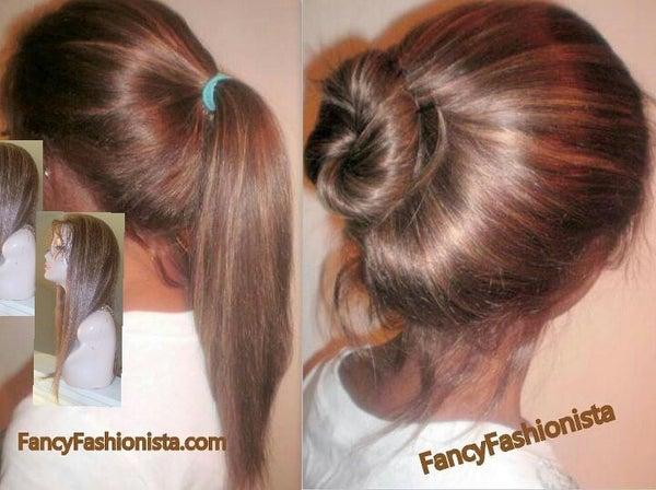 Image of Indian Remy Front Lace Wig 4/27 HighLights