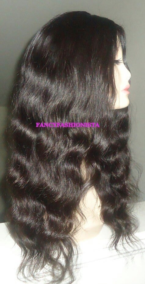Image of Virgin Brazilian Loose Wave Silk top Front Lace Wig
