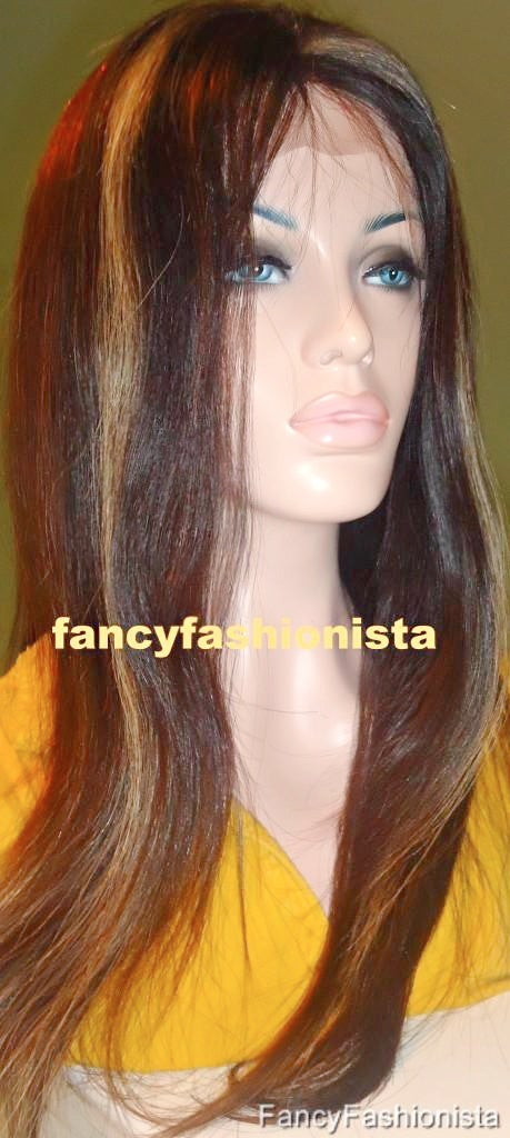 Image of Custom Front Lace Wig with Hilighlights