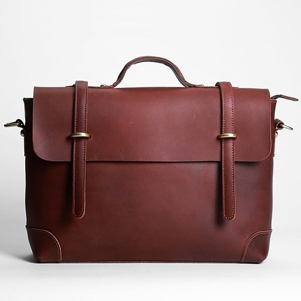 "Image of Handmade Vintage Leather Messenger Bag / Briefcase / 13"" 15"" MacBook 13"" 14"" Laptop Bag (n36)"