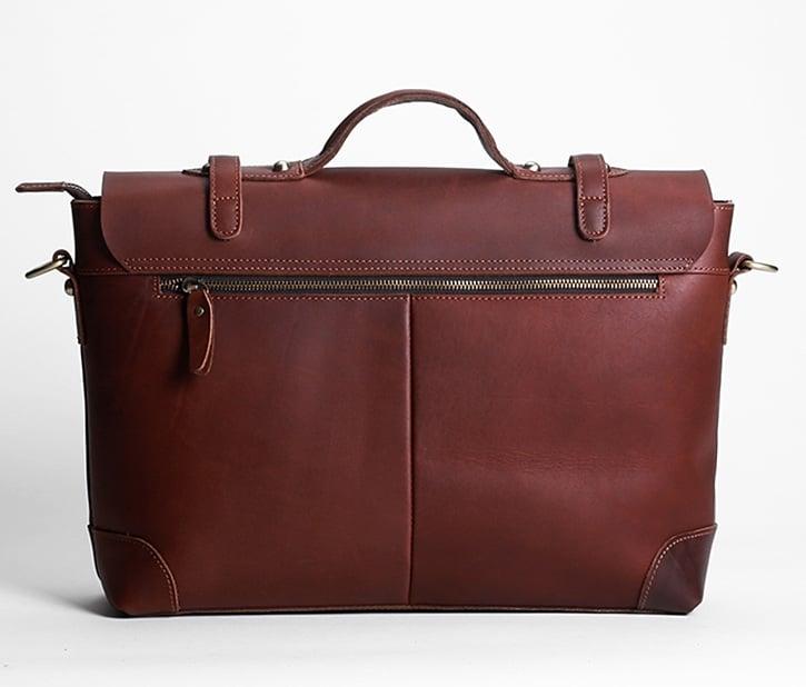 Handmade Vintage Leather Messenger Bag Briefcase 13 15 Macbook 14 Laptop N36