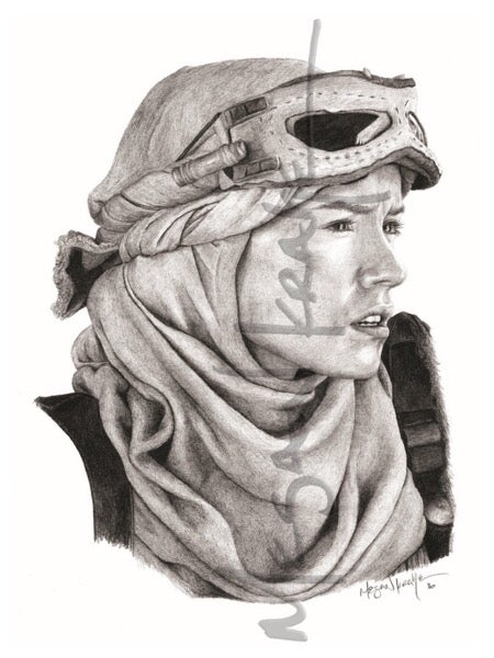 Image of Rey on Jakku, reprint