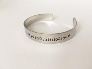 Image of Bracelet acier SUPERCALIFRAGILISTICEXPIALIDOCIOUS