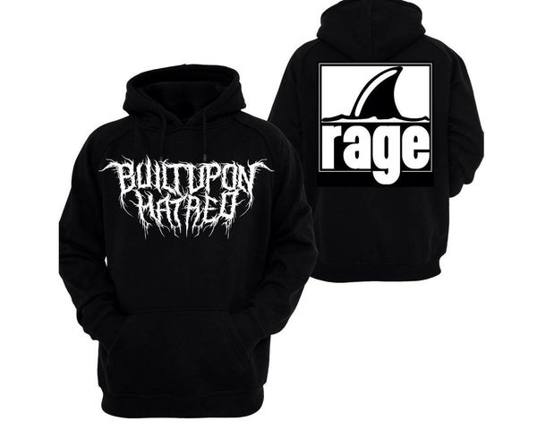 Image of BUILT UPON HATRED x RAGE RECORDS HOODIE