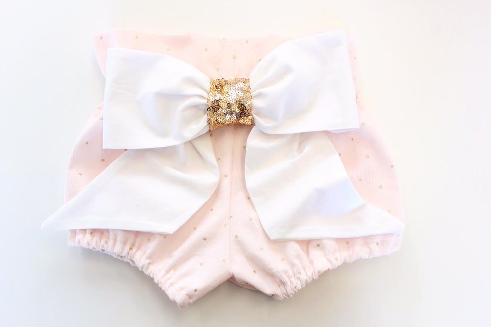 Image of Metallic Gold Dot High Waist Bloomers