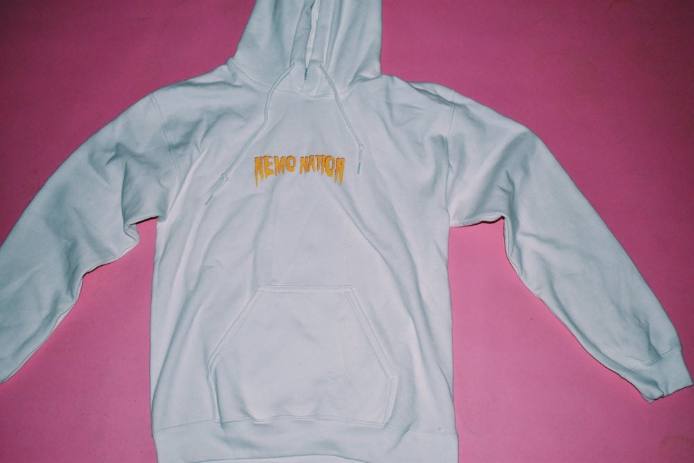 "Image of Flame Logo  ""White"" Hoodie"