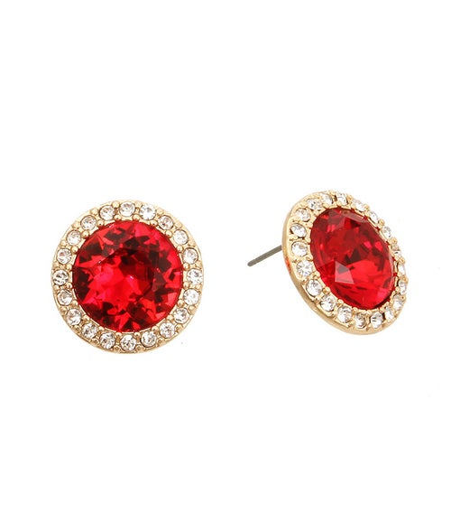 Image of Red Crystal Earrings