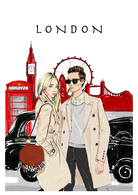 Image of LONDON A4/A3 GICLEE PRINT