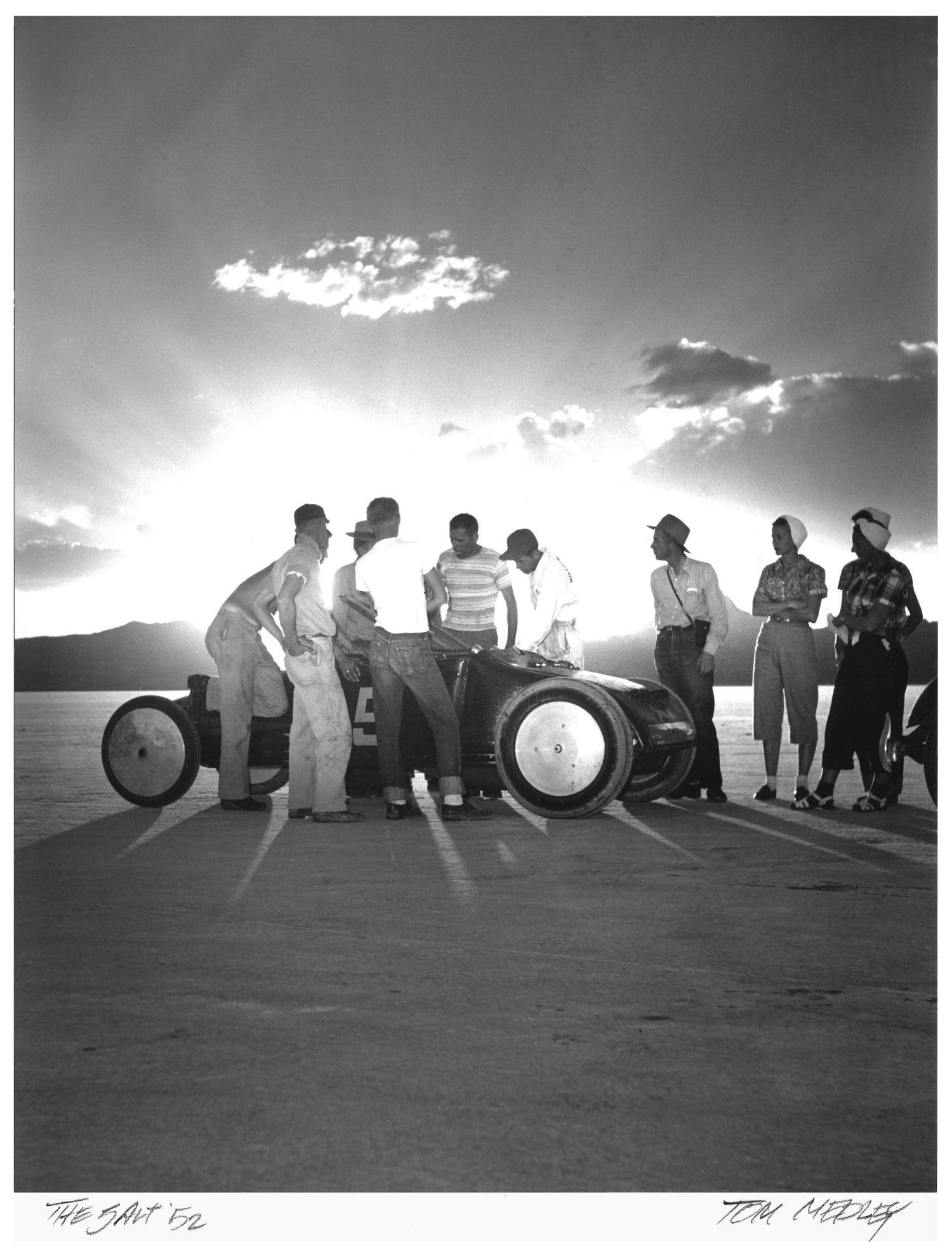 Sunrise over Salt. Bonneville 1952 Photographic Print