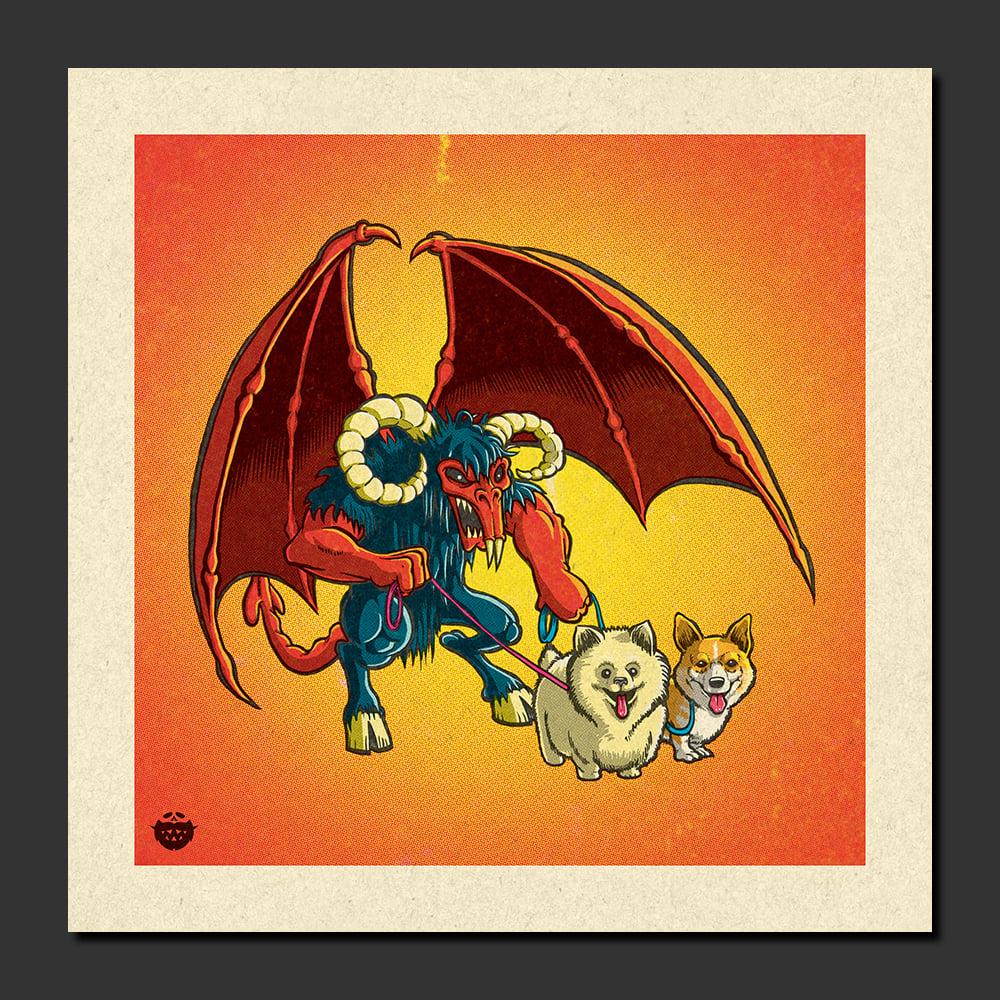 Image of Demon Dog Walker Print
