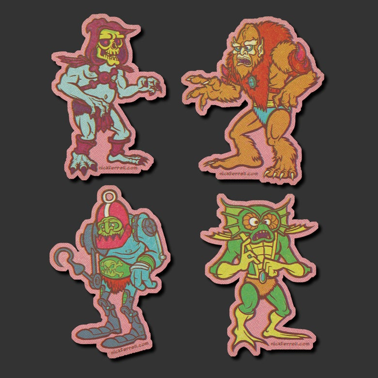 Image of Evil Warriors Sticker 4-Pack