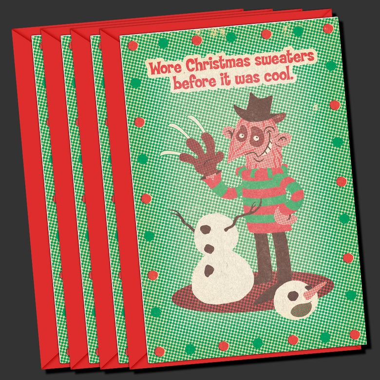 Image of Freddy's Coming For Yule Greeting Card (4-PACK)