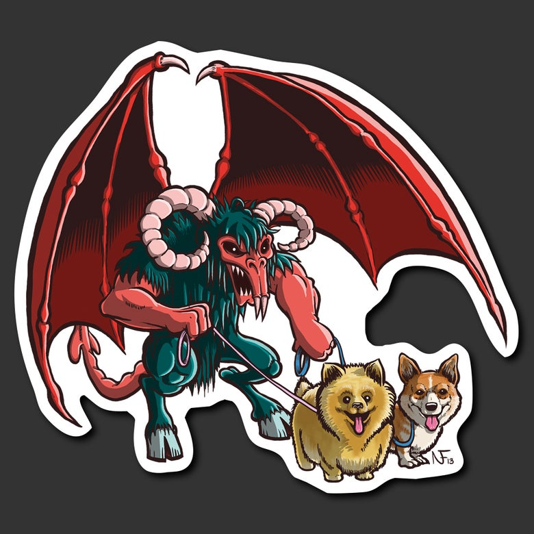 Image of Demon Dog Walker Sticker
