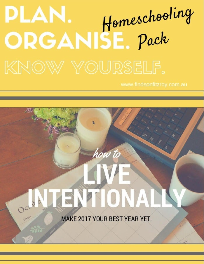 Image of HOMESCHOOLING PACK - 'Plan. Organise. Know Yourself' Printables Collection