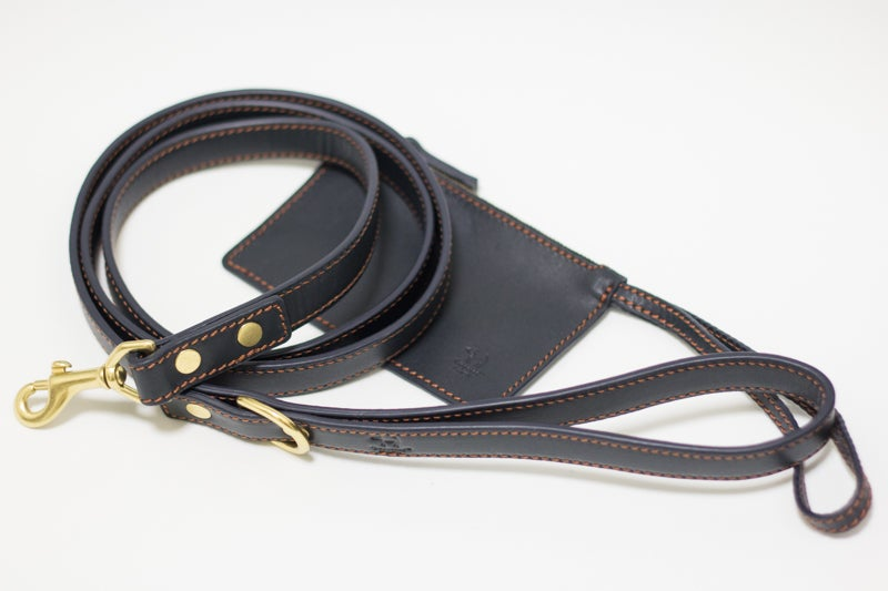 Image of Tuppence Leash - Navy