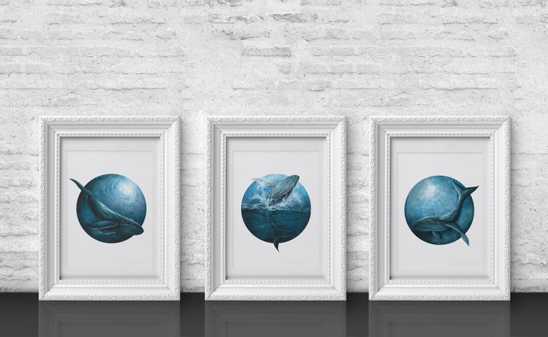 Image of Whales - print