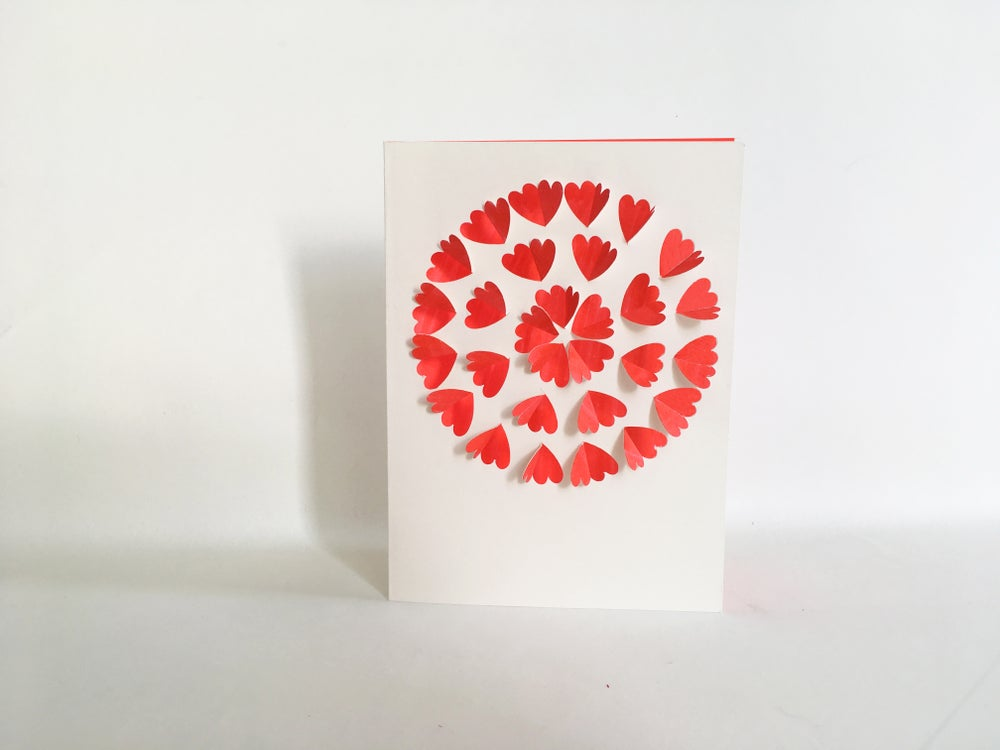 Image of 2 x Heart Flower Cards