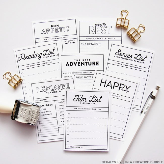Image of In Review Journaling Cards (Digital)