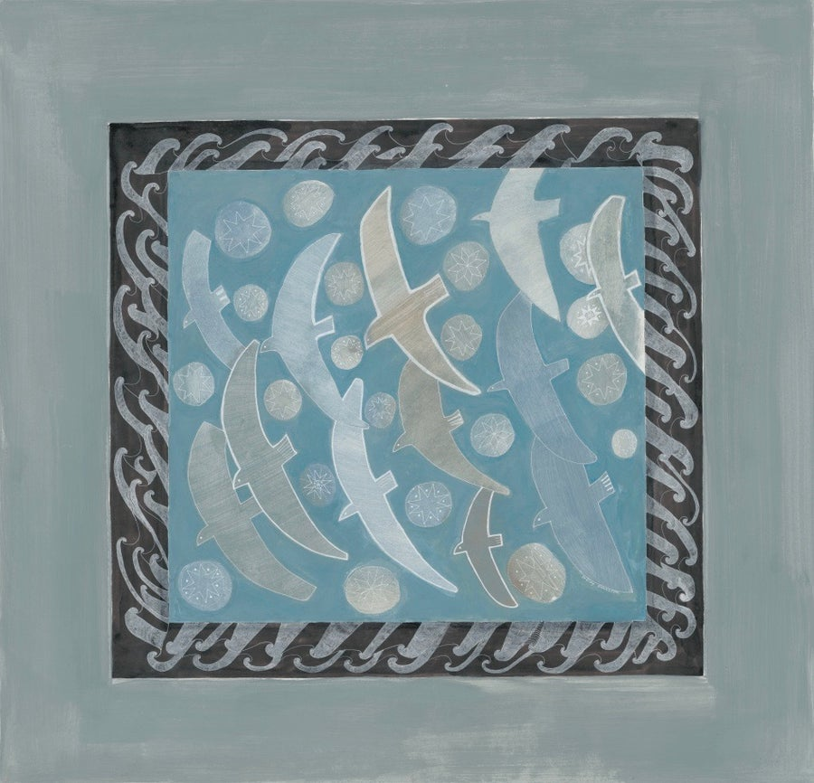 Image of A Flock of Seagulls Silk Satin Scarf
