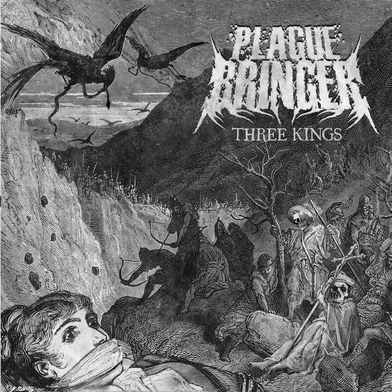 "Image of Plaguebringer Three Kings Oxblood 7"" Vinyl Record LTD 300"
