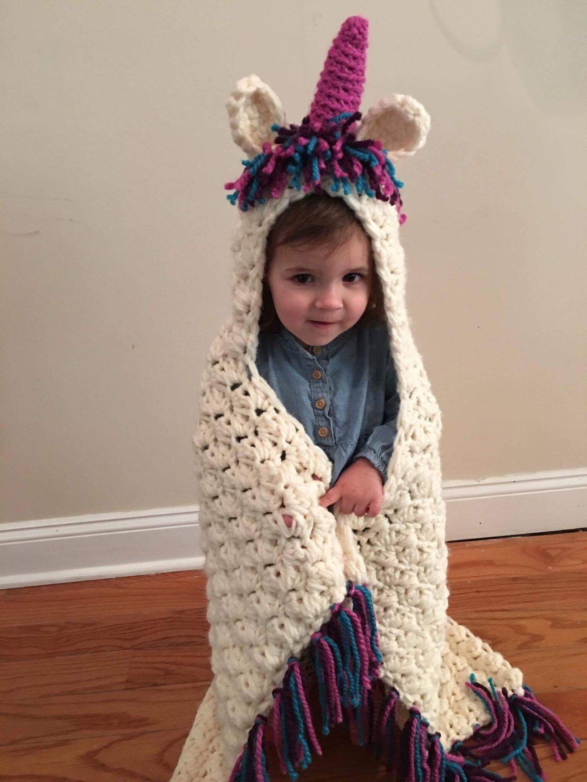 Image of Unicorn Snuggle Blanket
