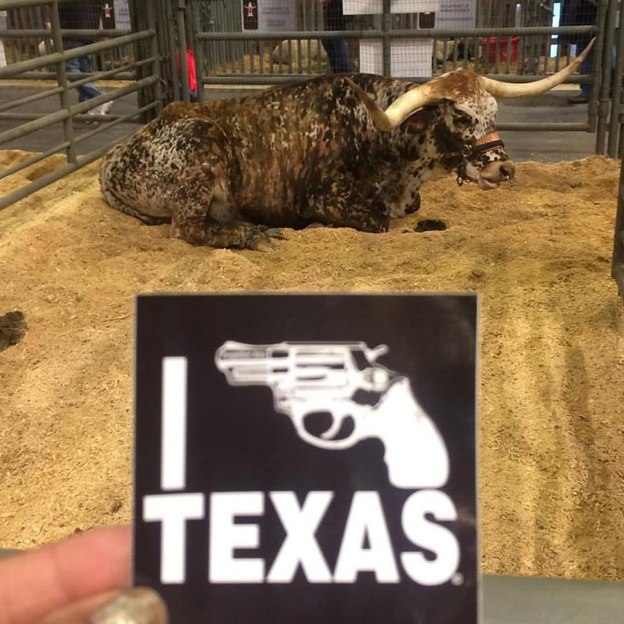 Image of Black I Bang Texas Sticker