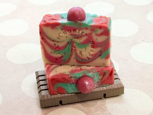 Image of Berry Rhubarb Goat Milk Soap