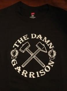 Image of The Damn Garrison T-Shirt (Black/White)