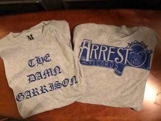 Image of The Damn Garrison T-Shirt (Gray/Blue)