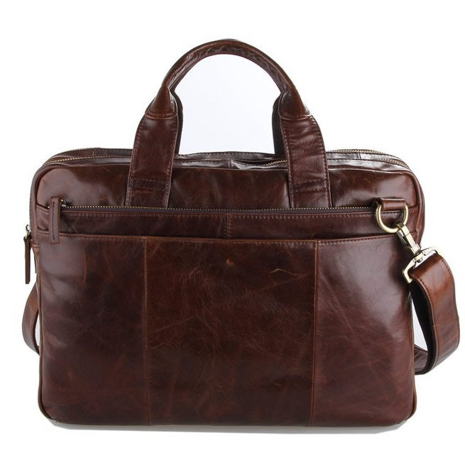 "Image of Handmade Vintage Leather Briefcase / Messenger / 13"" 15"" MacBook 13"" 14"" Laptop Bag (N71B)"