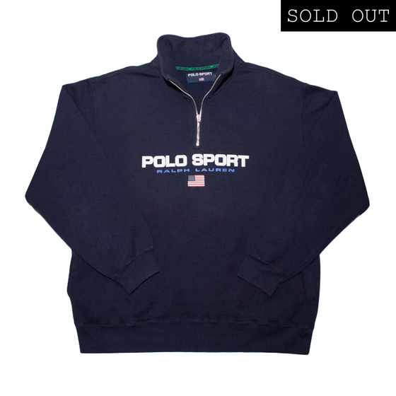 Image of Polo Sport 1/4 Zip Logo Sweatshirt