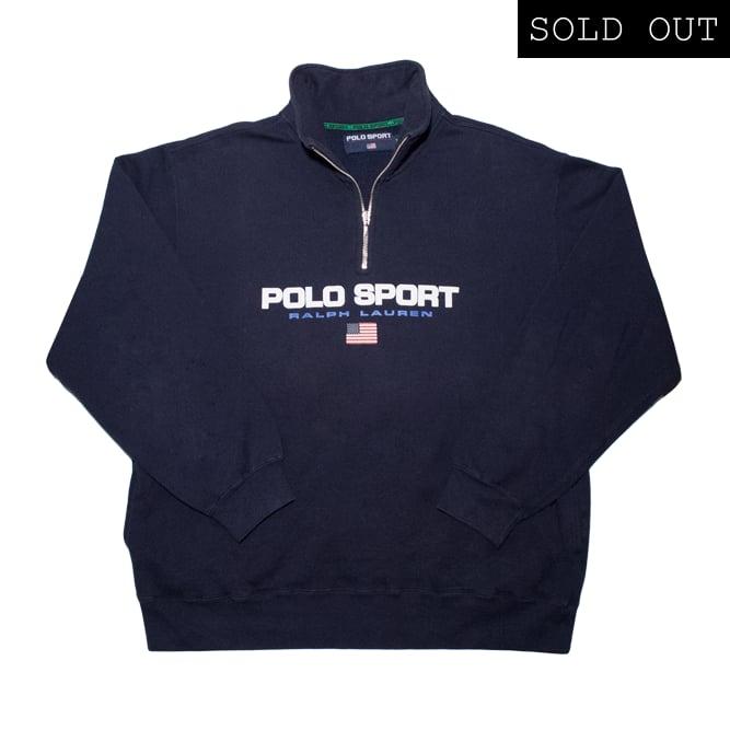Image of Polo Sport 1/4 Zip Logo Sweatshirt